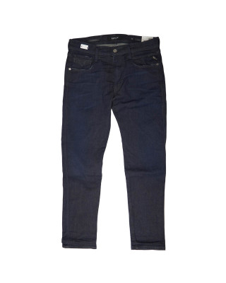 Replay Anbass Hyperflex Clouds Slim Fit Jeans - Dark Blue