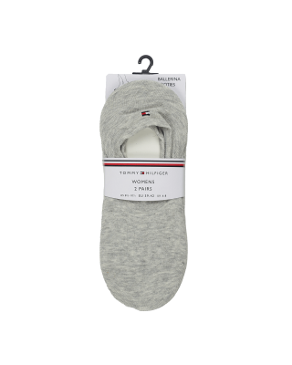 Tommy Hilfiger Low Socks 2 Pack - Mid Grey