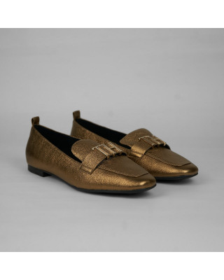 Tommy Hilfiger Polished Metallic Pointed Loafers
