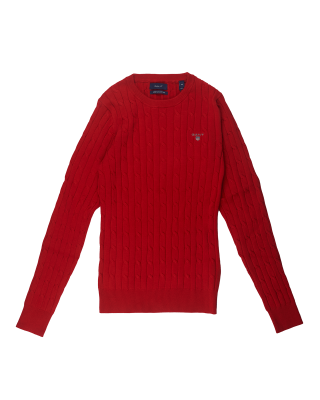 Gant Stretch Cable Knit Sweater