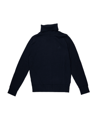 Gant Light Cotton Turtleneck Knit - Evening Blue