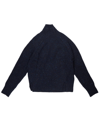 Gant Neps Cable Turtleneck Knit - Evening Blue