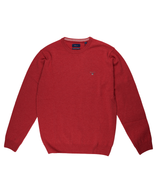 Gant Super Fine Lambswool Crew Neck Jumper - Rapture Rose
