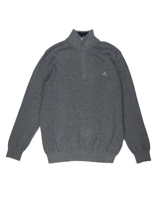 Gant Marled Cotton Half Zip Jumper