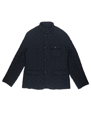 Emporio Armani Quilted Nylon Padded Single Breasted Jacket