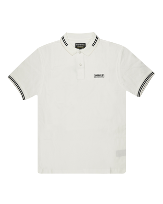 Barbour International Essential Tipped Polo Shirt - White