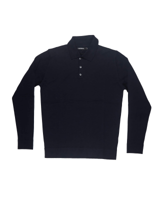 J.Lindeberg Noel Silk Wool Mix Polo Shirt