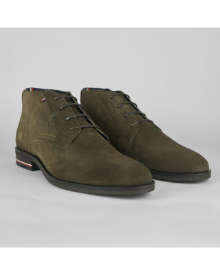 Tommy Hilfiger Signature Logo Suede Boots - Ridgewood Suede