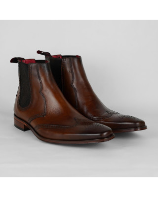 Jeffery West Toledo Leather Chelsea Boots - Castano Leather