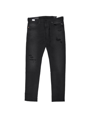 Replay Jondrill Hyperflex+ Broken & Repair Jeans - Black
