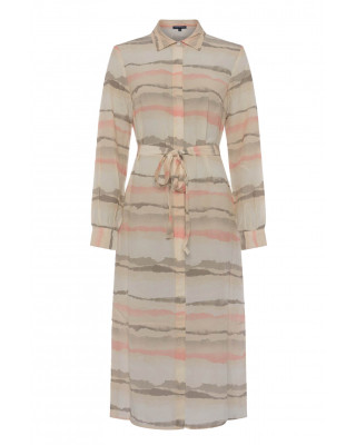 French Connection Hope Drape Shirt Dress - Dusty Pink