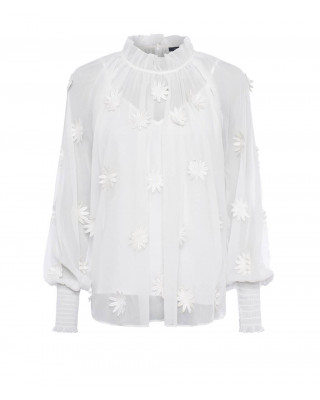 French Connection Aziza Floral Long Sleece Blouse