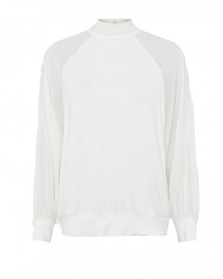 French Connection Noemi Woven Mix Top