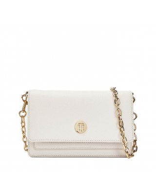Tommy Hilfiger Chain Strap Cross Over Bag - White Dove