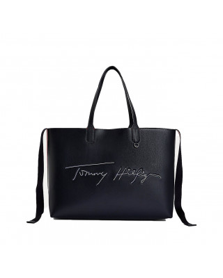 Tommy Hilfiger Iconic Signature Embroidery Tote Bag - Desert Sky