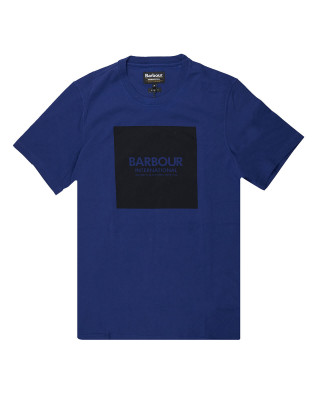 Barbour International Slim Fit Block T-Shirt - Strong Blue