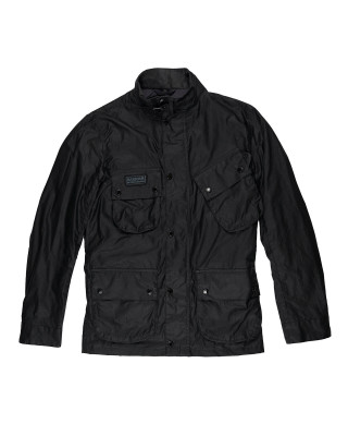 Barbour International Lightweight Slim Wax Jacket - Black