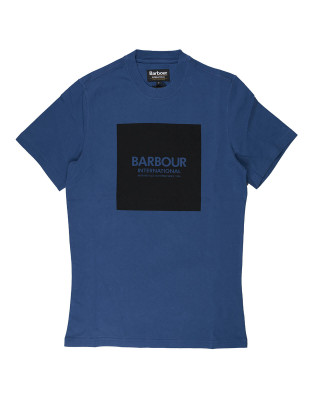 Barbour International Slim Fit Block T-Shirt - Mid Blue