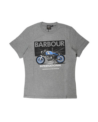 Barbour International Greenwood T-Shirt - Anthracite Marl