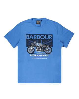 Barbour International Greenwood T-Shirt - Pure Blue