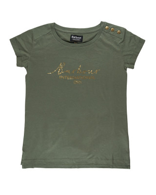 Barbour International Grid T-Shirt - Light Army