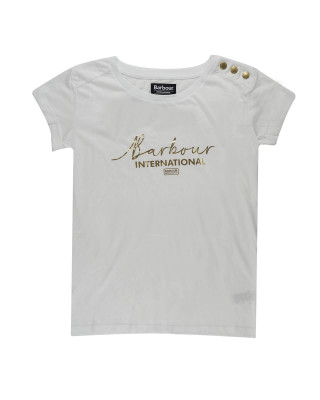 Barbour International Grid T-Shirt - White
