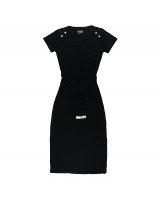 Barbour International Hairpin Midi Dress - Black