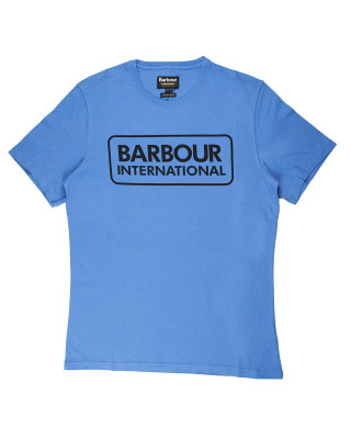 Barbour International Essential Large Logo T-Shirt - Pure Blue