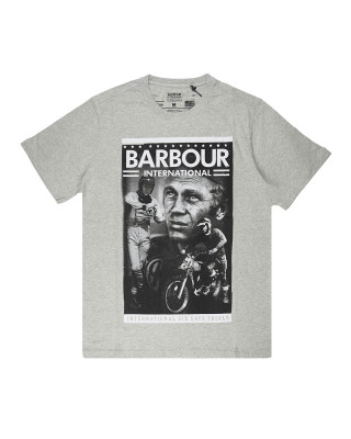 Barbour International Steve McQueen Combo T-Shirt - Grey Marl