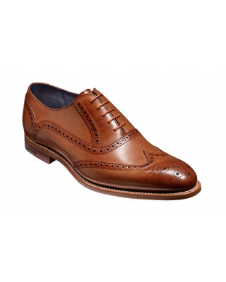 Barker Valiant Hand Painted Brogues - Brown