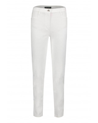 Betty Barclay Basic Trousers With Patch Pockets - Bright White