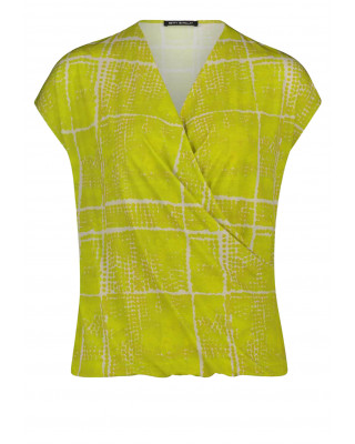 Betty Barclay Wrap Style Blouse - Nature Green