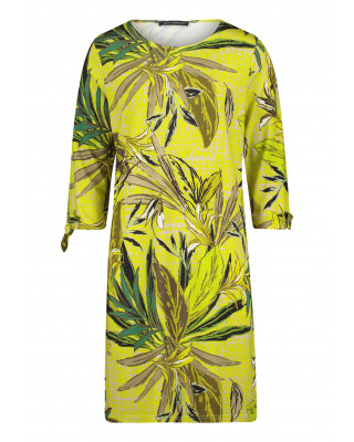 Betty Barclay Floral Shirt Dress With Pockets - Green/Yellow
