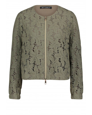 Betty Barclay Floral Lace Summer Jacket - Dusty Olive