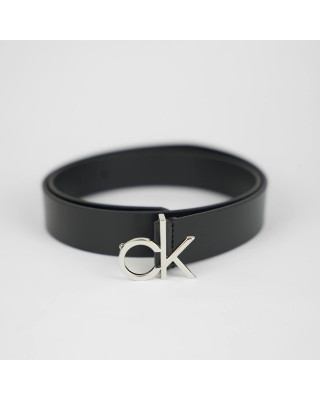 Calvin Klein Leather Monogram Belt - Black