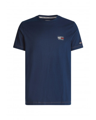 Tommy Jeans Slim Fit High Neck T-Shirt - Twilight Navy