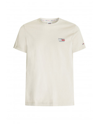 Tommy Jeans Slim Fit High Neck T-Shirt - Soft Beige