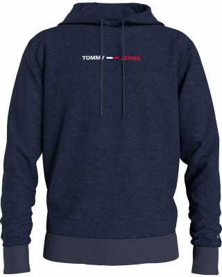 Tommy Jeans Logo Hoodie - Navy Heather