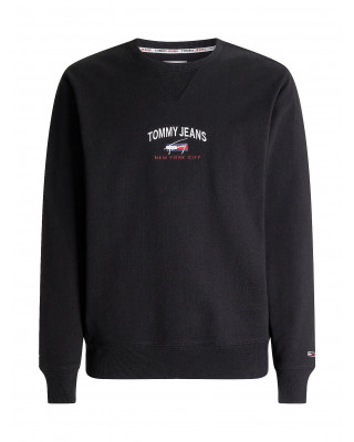 Tommy Jeans Organic Cotton Signature Sweatshirt - Black