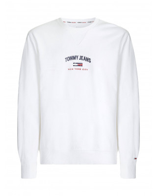 Tommy Jeans Organic Cotton Signature Sweatshirt - White