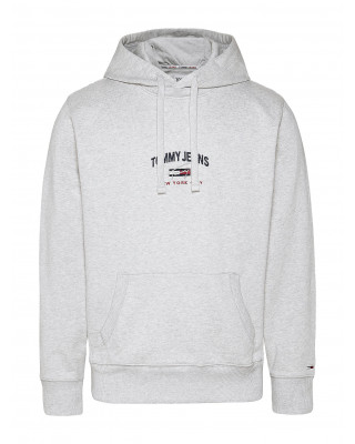 Tommy Jeans Timeless Organic Cotton Hoodie - Silver Grey Heather