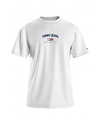 Tommy Jeans Organic Cotton Flag T-Shirt - White