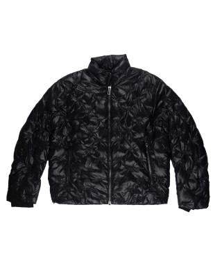 Emporio Armani Nylon Down Jacket With Quilted Eagle Logo