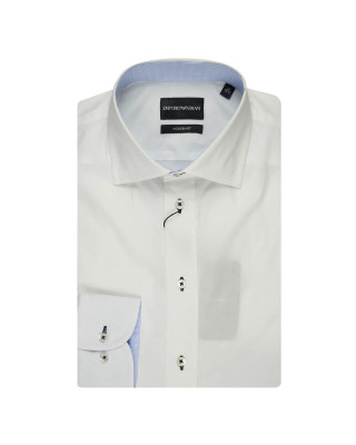 Emporio Armani Long Sleeve Plain Shirt - White