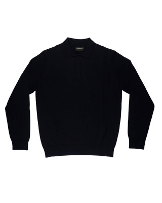 Emporio Armani Knitted Pullover With Button Detail
