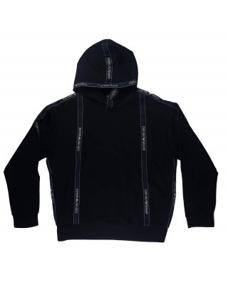 Emporio Armani Hooded Sweatshirt With Logo Tape
