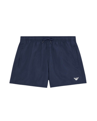 Emporio Armani Eagle Embroidery Swim Shorts - Navy Blue