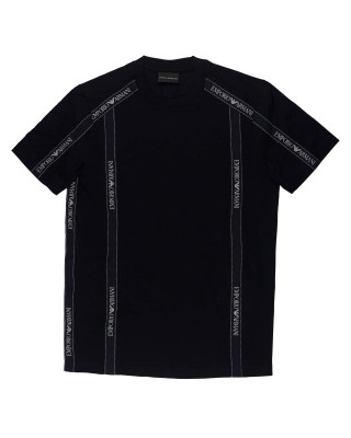 Emporio Armani Jersey T-Shirt With Logo Tape