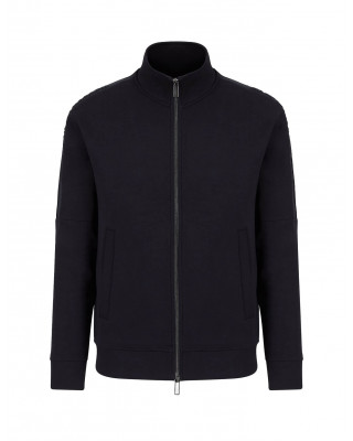 Emporio Armani Double Jersey Zip Sweatshirt - Navy Blue