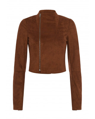 French Connection Calira Suedette Fitted Jacket - Earth Clay